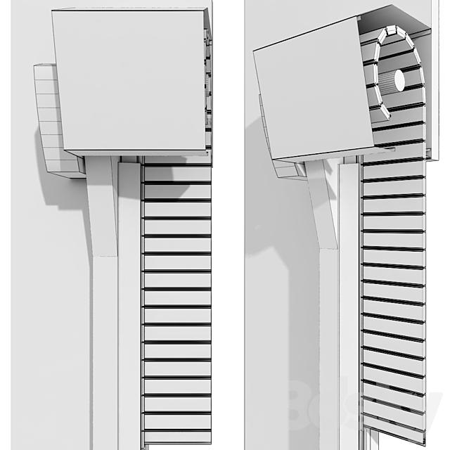 Metal industrial high speed door with horizontal slats