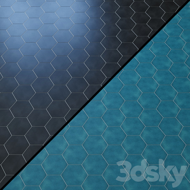 "Cavallo Swiss Coffee 7 ""Hexagon Porcelain Tile"