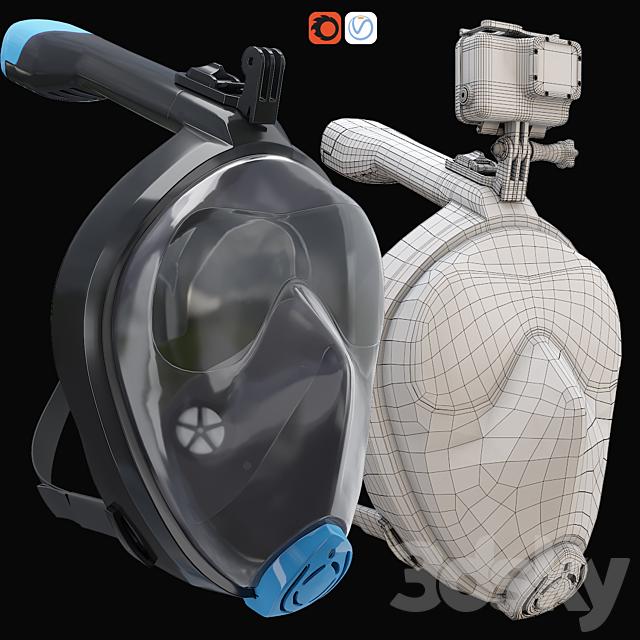 GoPro7 Diving Mask