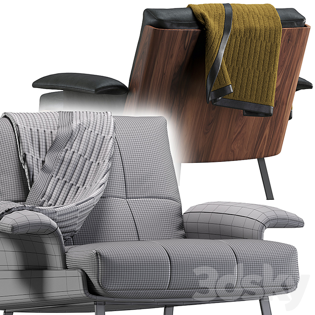 Daiki armchair by Minotti