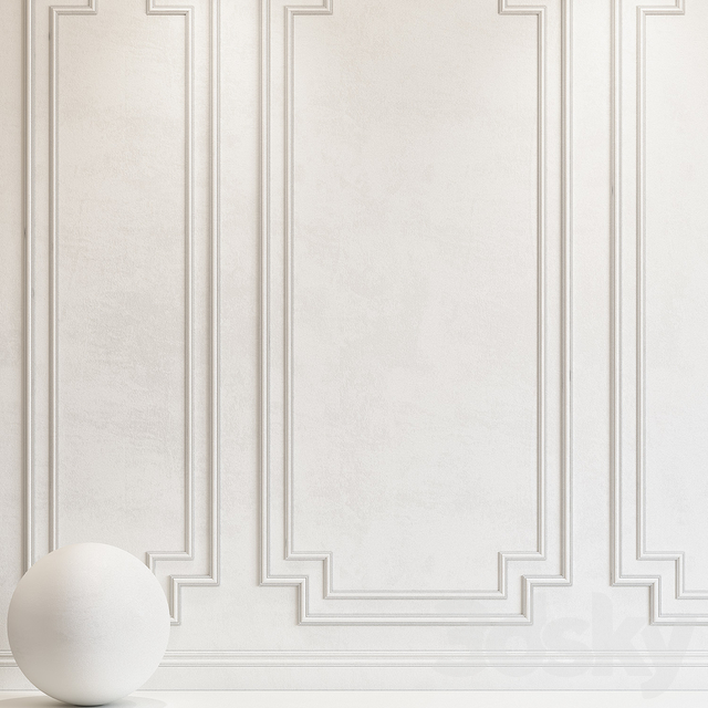 Decorative plaster with molding 64
