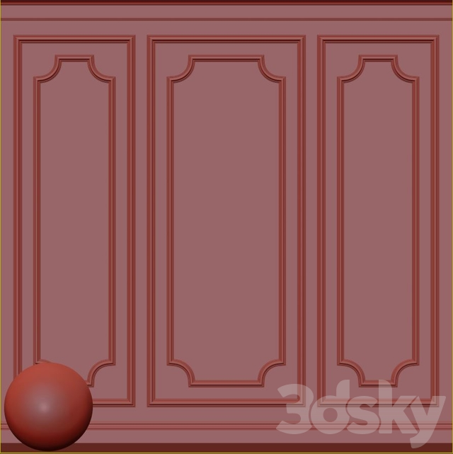 Decorative plaster with molding 65