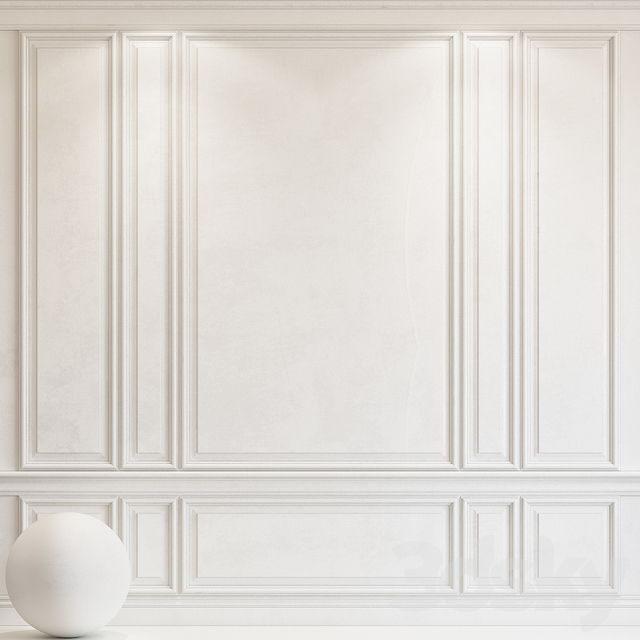 Decorative plaster with molding 68