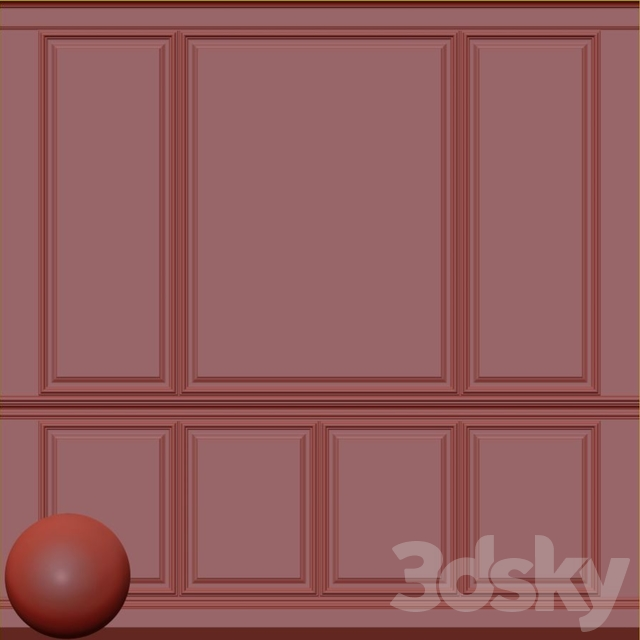 Decorative plaster with molding 69