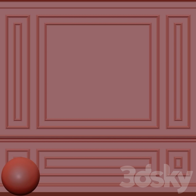 Decorative plaster with molding 70