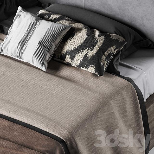 Restoration Hardware Kempton fabric platform bed