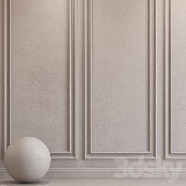 Decorative plaster with molding 71
