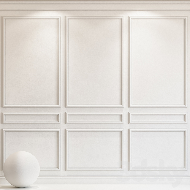 Decorative plaster with molding 72