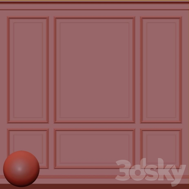Decorative plaster with molding 73