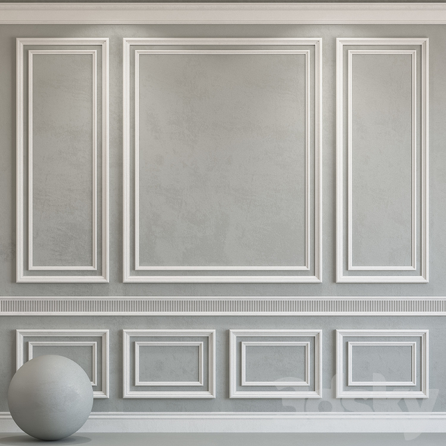 Decorative plaster with molding 74