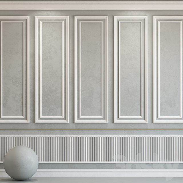 Decorative plaster with molding 75