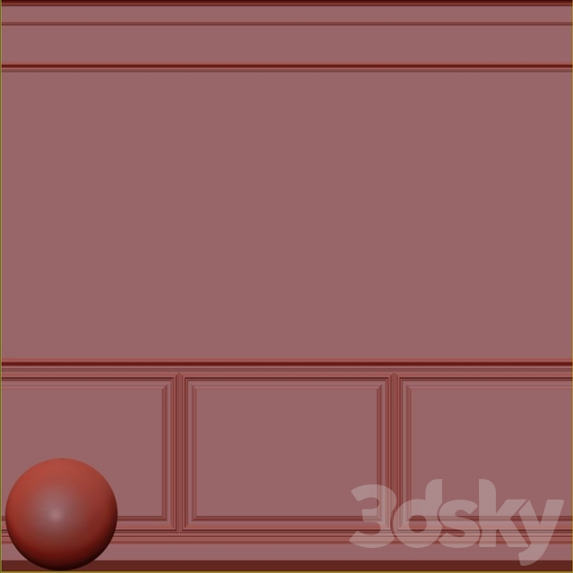 Decorative plaster with molding 76