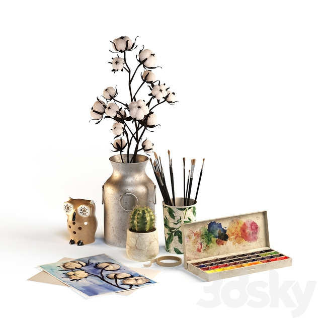 Decorative watercolor set