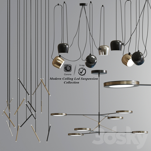 Modern Ceiling Led Suspension Collection