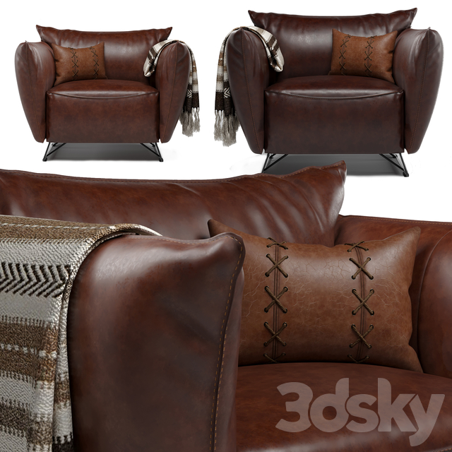 Jess Leather Armchair _ My Home Collection