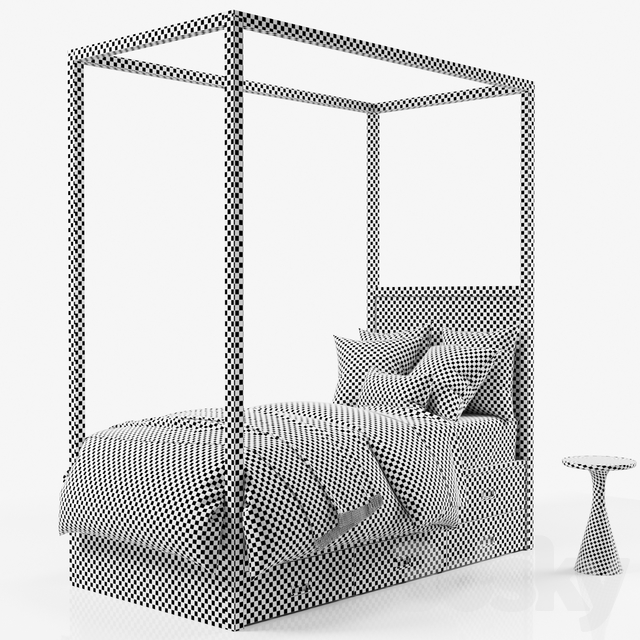 Avalon Canopy Bed with Trundle