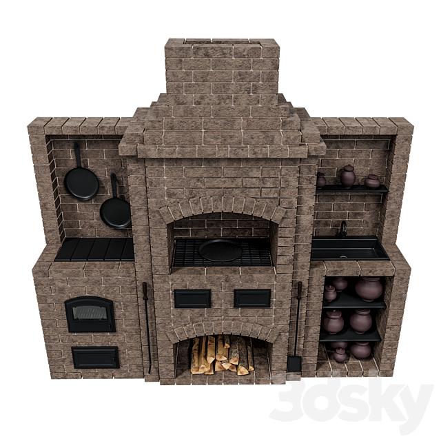 Brick oven barbecue