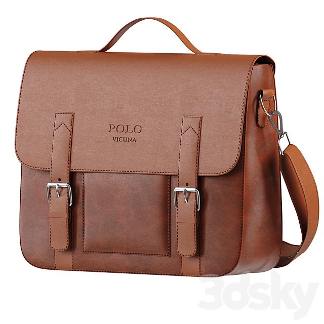 Men Vintage PU Leather POLO VICUNA