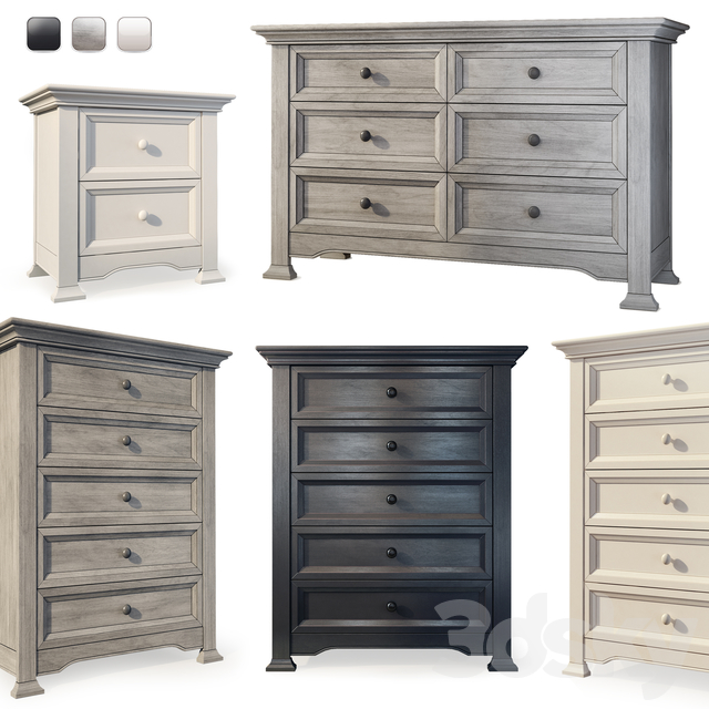 Chest of drawers, sideboard and bedside table Medford. Dresser, nightstand by Centennial
