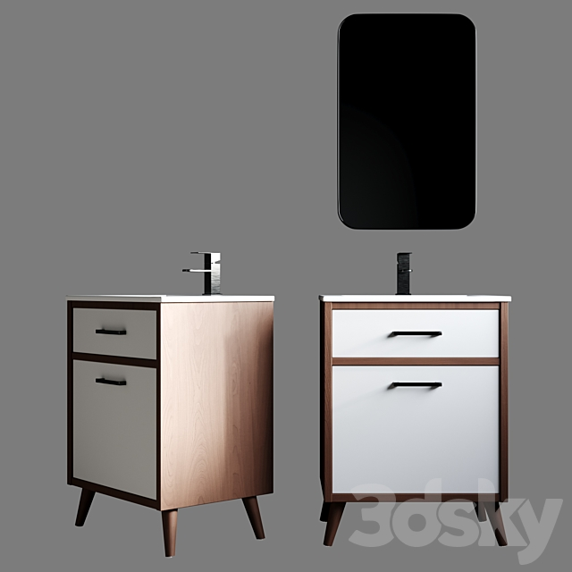 3d Models Bathroom Furniture Joel 24 39 39 Single Bathroom Vanity Set