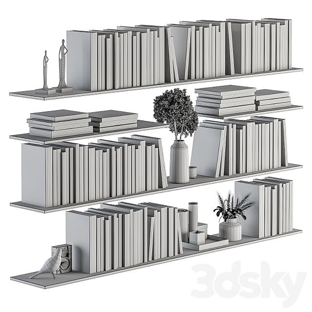 Decorative Set on Shelves and Decor objects - Set 07