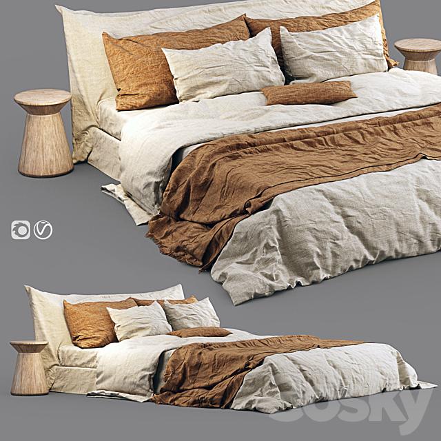 Cozy Bed with Zara Home Linen Bedding_03