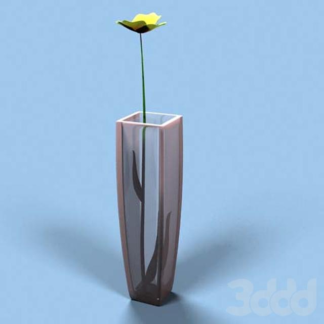 Ваза с цветком