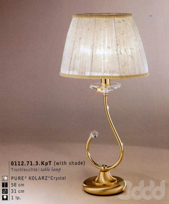 Table lamp chandelier
