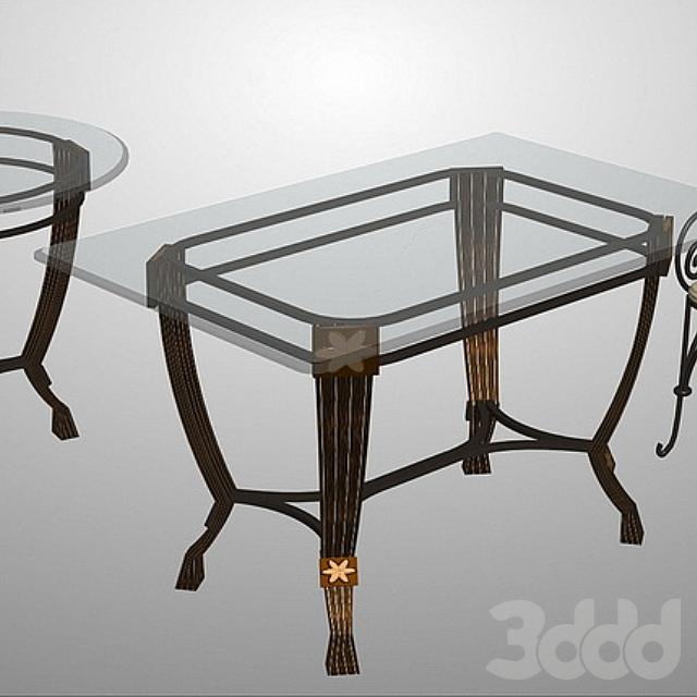 столы и стул, ковка