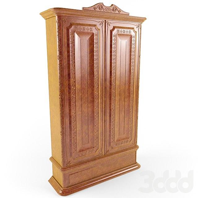 шкаф с резным декором