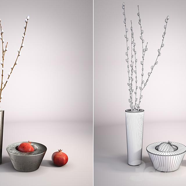 Декоративные вазы с гранатом