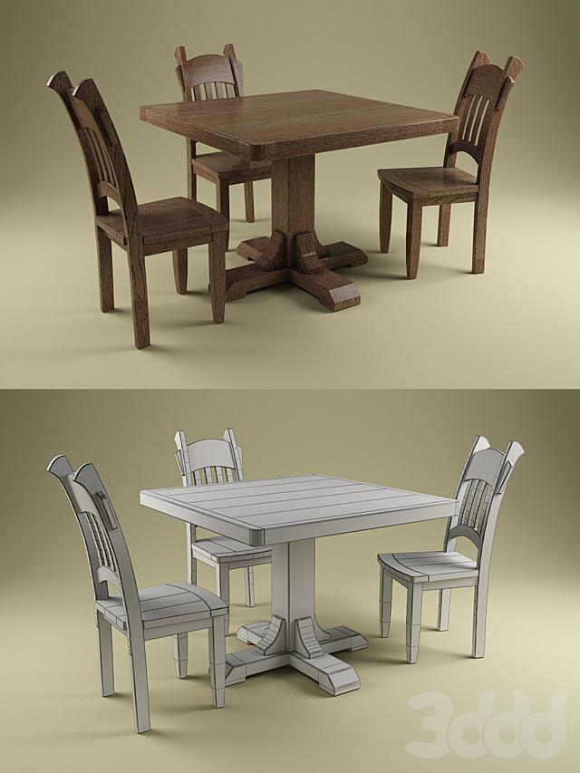 Стул и стол от Artgri