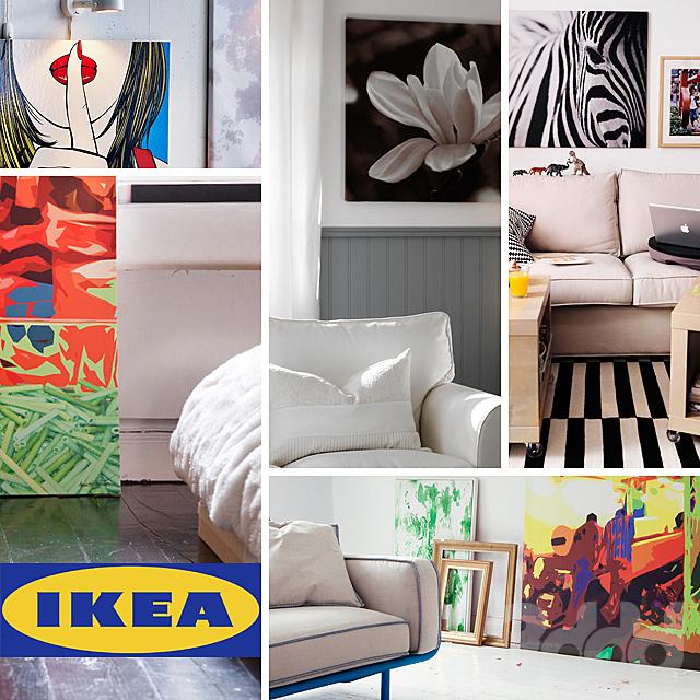 IKEA, картины и постеры