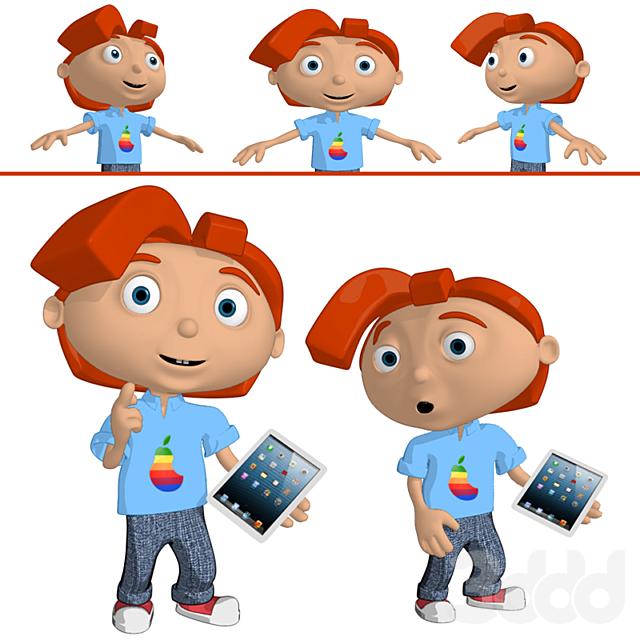 Boy with gadget