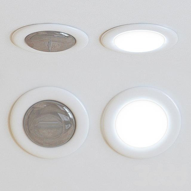 белый точечный светильник под который не надо вырезать дырки в потолке