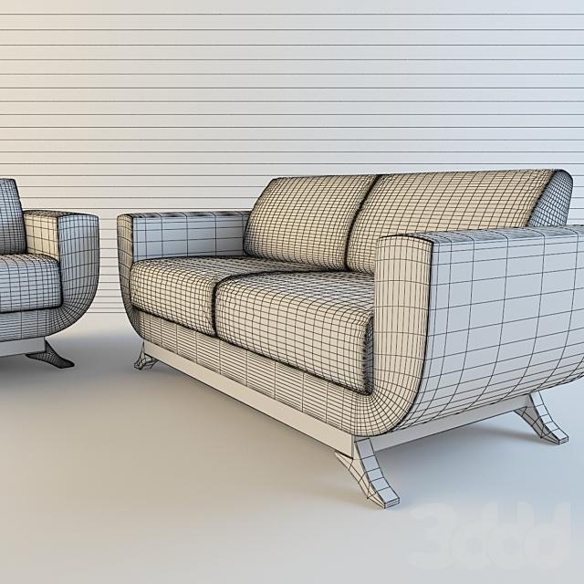 диван и кресло офисные