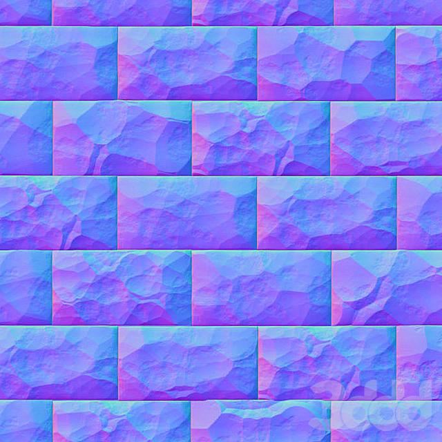 Облицовочный камень (текстура нормали)