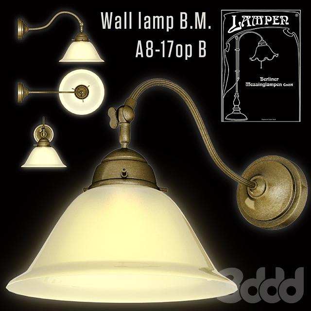 Berliner Messinglampen Wall lamp B.M.