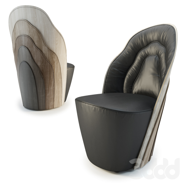 Layer armchair / WOOD TAILORING
