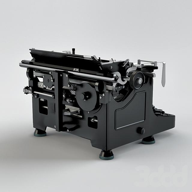 Печатная машинка Mercedes