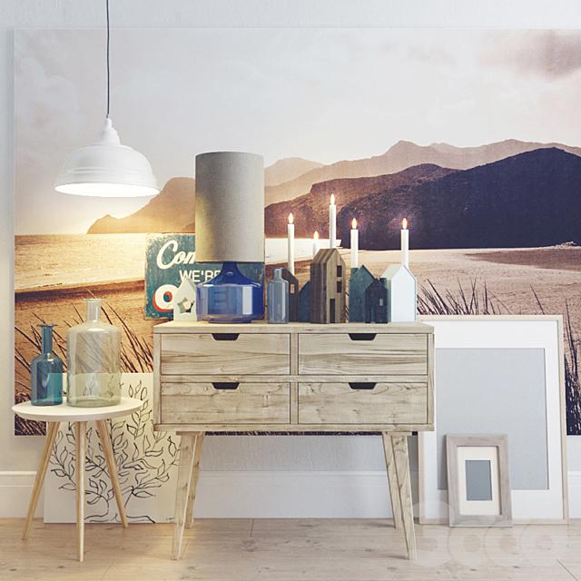 Decorative set. Scandinavian style