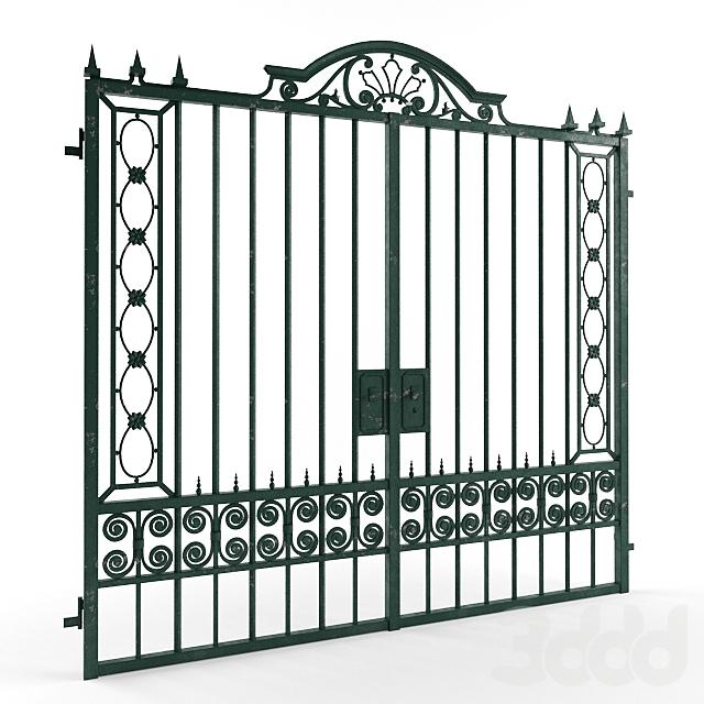 Старые окрашенные ворота