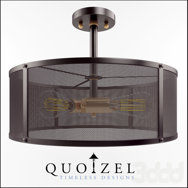 Union Station 3 Light Semi-Flush Mount by Quoizel