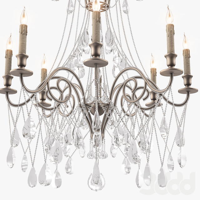 Currey & Company Lillian chandelier 9051