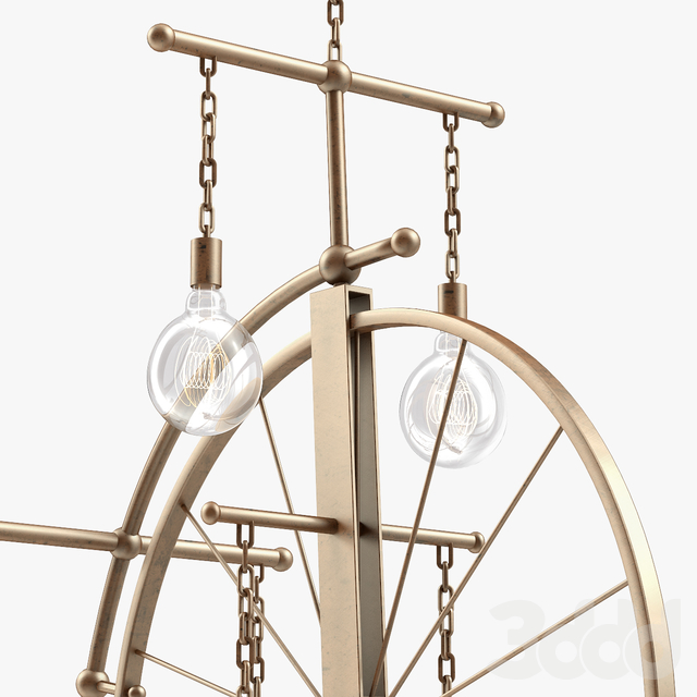 1stdibs Large Brass Bicycle Chandelier