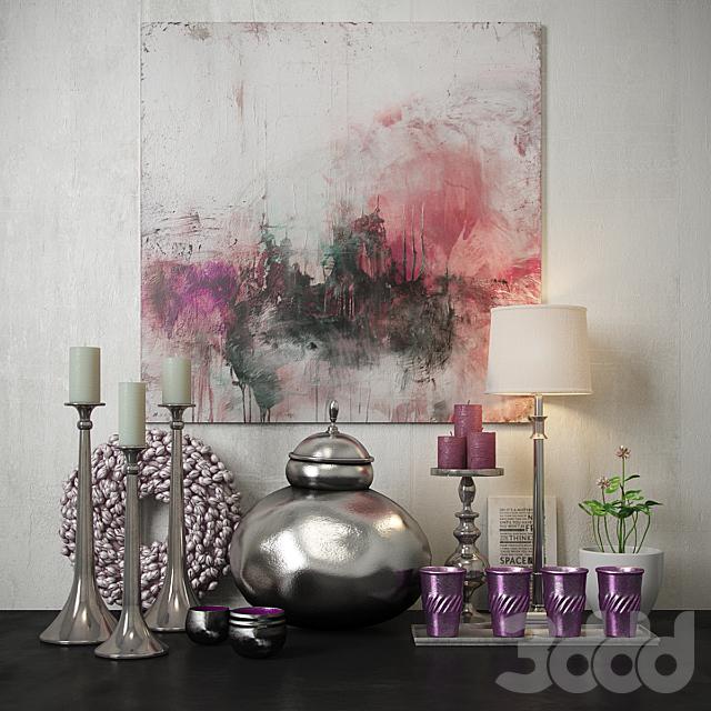 Pink decorative set