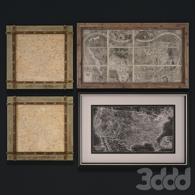 Сборник картин с картами