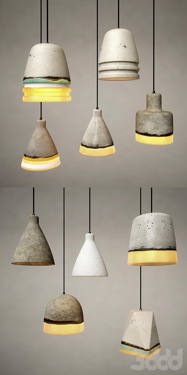 Art Concrete Pendant Collection