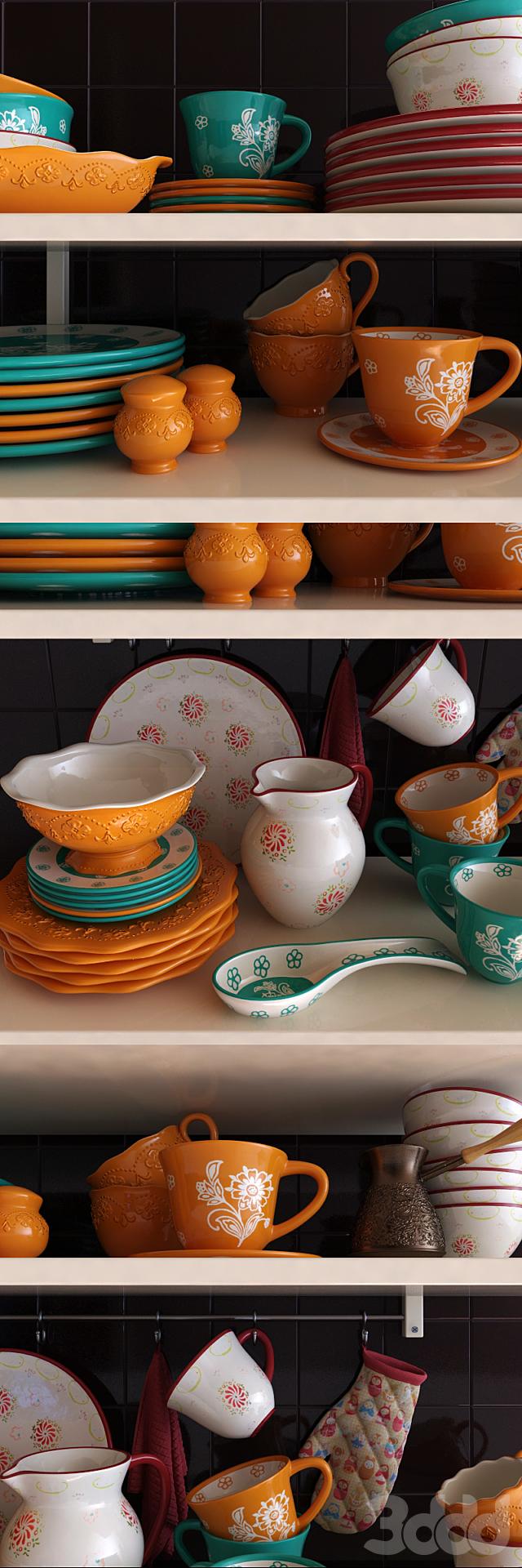 Набор посуды Elan Gallery