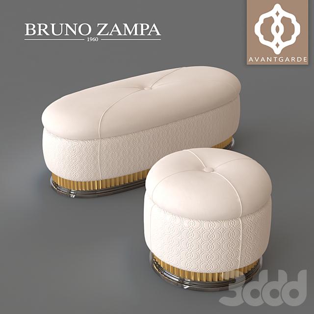 BRUNO ZAMPA WALT Pouf and Bench